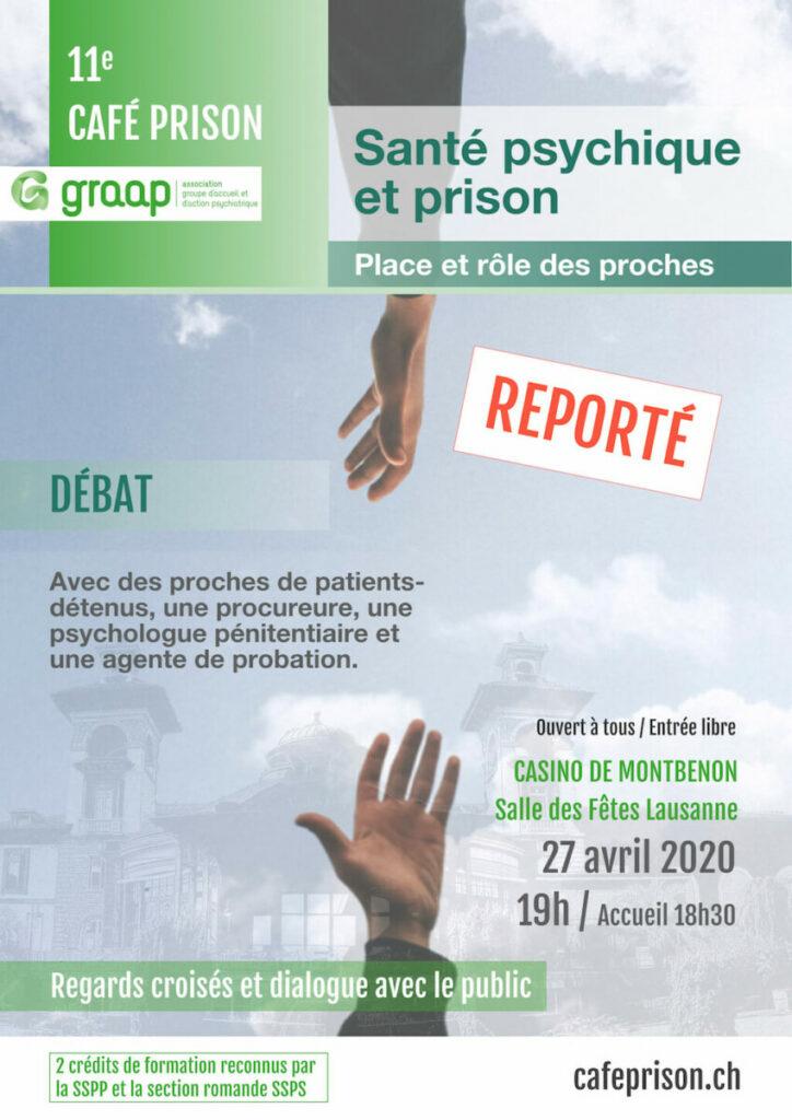 Affiche Graap - 11e Café prison - reporté