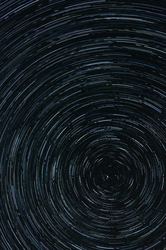 time lapse photography of star